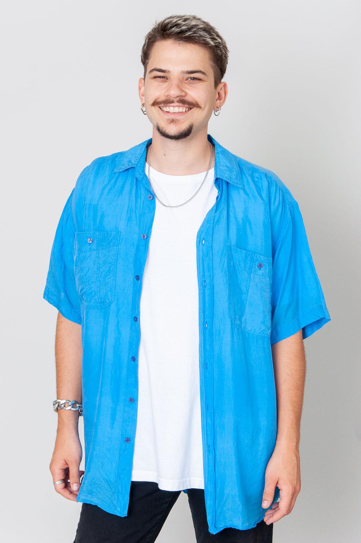 Pretty Blue Kurzarmhemd