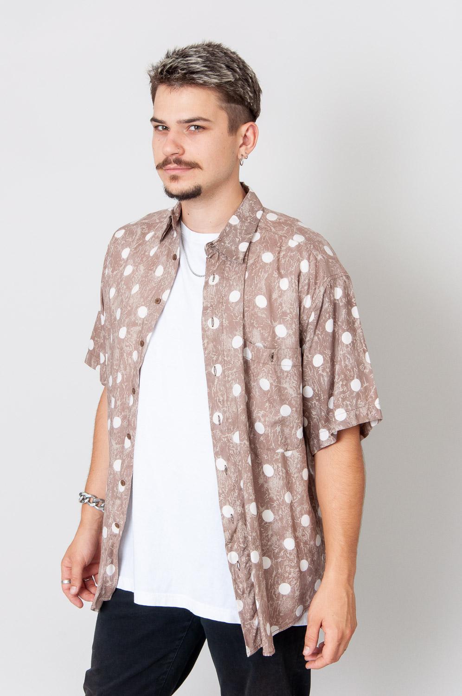 White Dots Kurzarmhemd