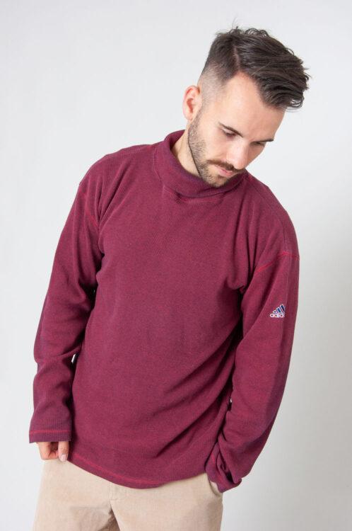 90er Adidas Ripp Rollkragen Longshirt