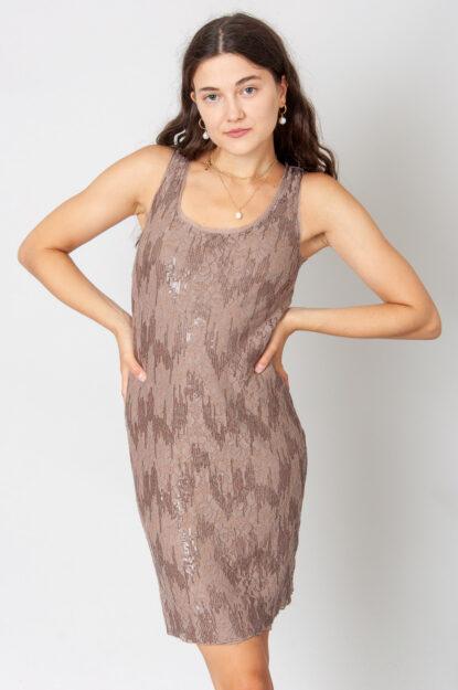 Brown Lace Minikleid