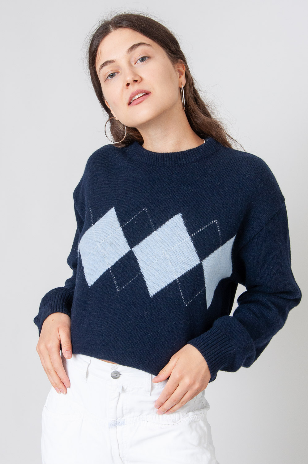 College Style Strickpullover