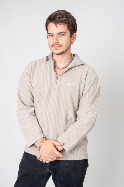 Stripes Half-Zip Sweatshirt