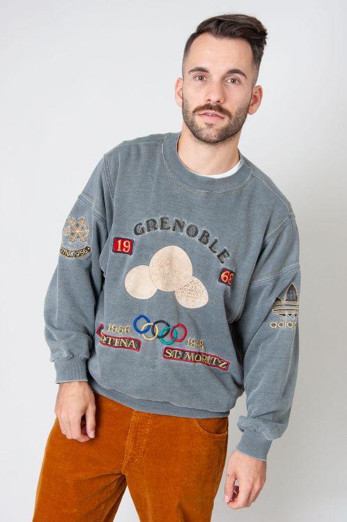 Super Rare 80s Adidas Olympioa Grenoble 1968 Sweatshirt 5