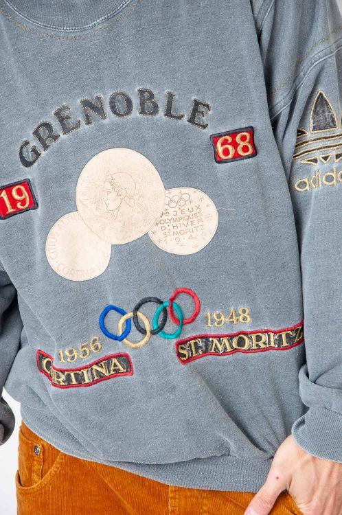 Super Rare 80s Adidas Olympioa Grenoble 1968 Sweatshirt 3
