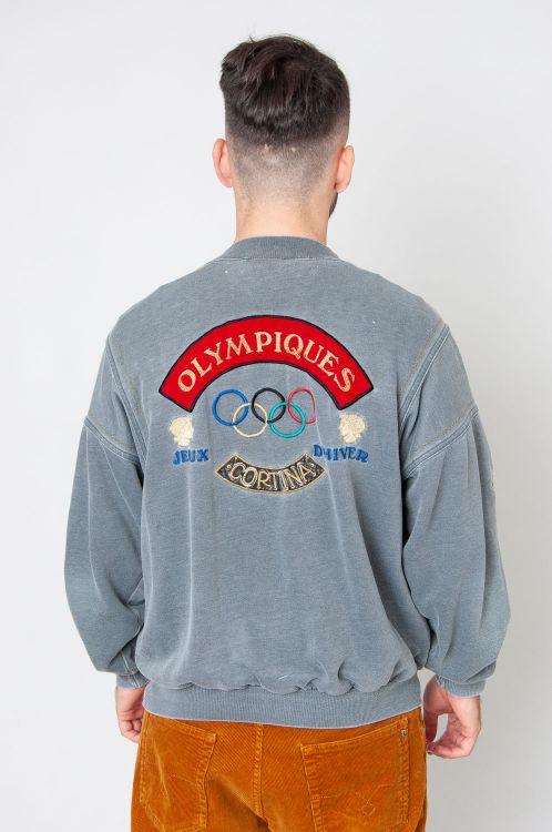 Super Rare 80s Adidas Olympioa Grenoble 1968 Sweatshirt 2