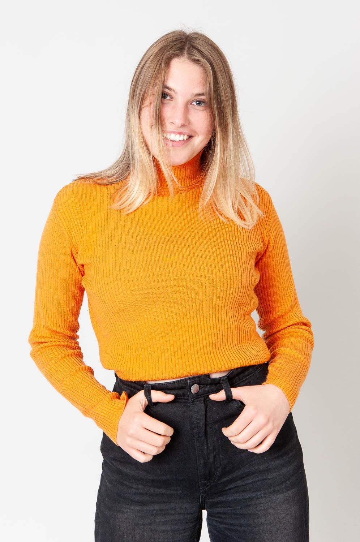 Sweet Orange Rippstrick Top