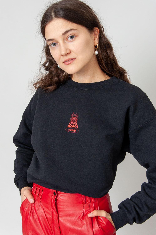Vintage Sweatshirt Burning Planet